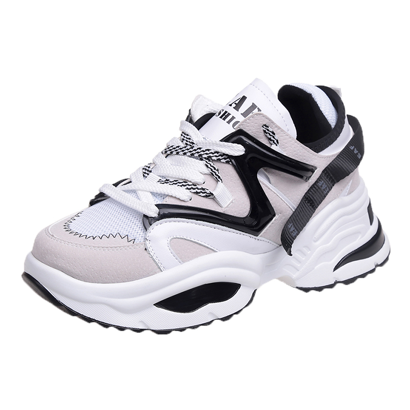 2019 Summer New Style Women Running Shoes Increasing 6CM INS Ulzza Harajuku Sneakers Breathable Doeky Dad Shoes in Running Shoes from Sports Entertainment