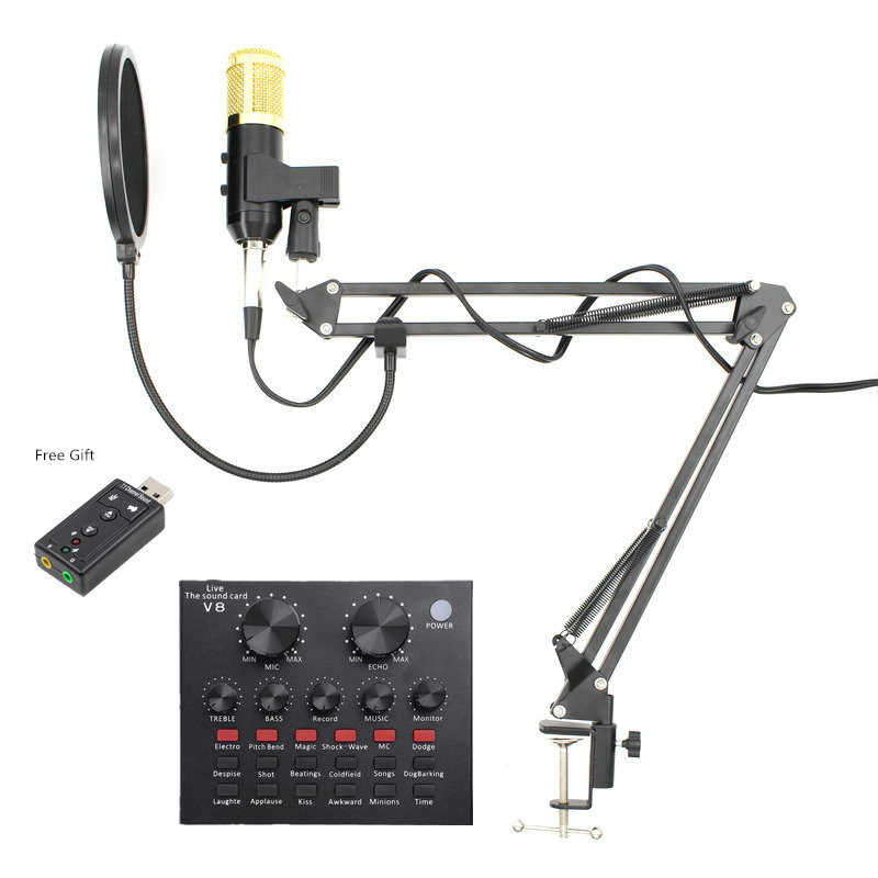 BM 900 Mikrofon Set Professional Condenser USB Microphone for computer BM 800 Upgraded Audio Studio Vocal Recording KTV