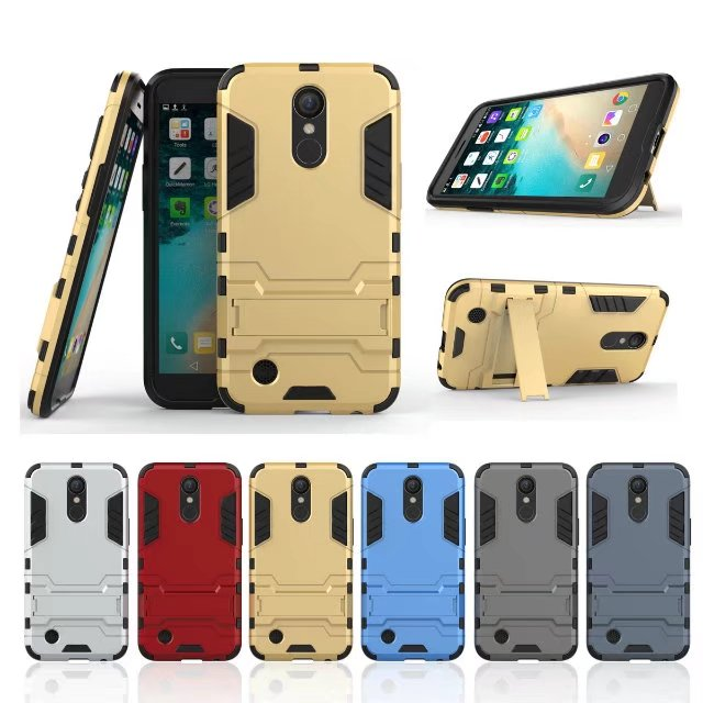 <font><b>Case</b></font> For LG <font><b>K10</b></font> 2017 LV5 With Stand Hybrid Hard Silicon + PC Armor protective back cover for LG <font><b>K10</b></font> 2017 <font><b>phone</b></font> shell housing