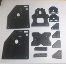 Horizon Elephant Openbuilds 3D printer OX CNC router gantry plate kit for NEMA 23 motor black color