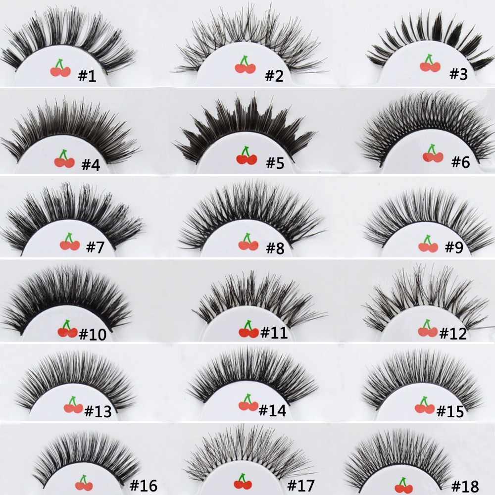 a35eed49d56 20styles Visofree False Eyelashes Messy Cross Thick Natural Fake Eye Lashes  Professional Makeup Bigeye Eye Lashes