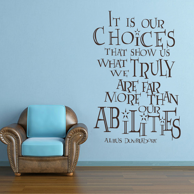 harry potter albus dumbledore it is our choices that show us nursery