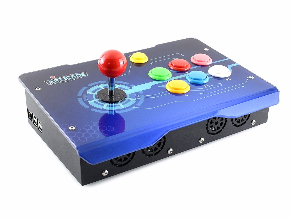 Arcade-C-1P, Arcade Console Powered by Raspberry Pi, 1 Player Gaming system Watch videos listen music play thousands of games