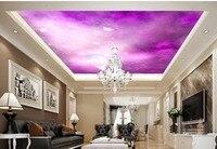 Wallpaper 3d Mural Butterfly Fantasy Moon Ceiling 3d Wallpaper Modern For Living Room Murals Non Woven