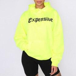 ZADORIN Harajuku Neon Green Hoodies Women Streetwear Long Sleeve Sport Sweatshirt Women Casual Oversized Hoodie jogging femme 5