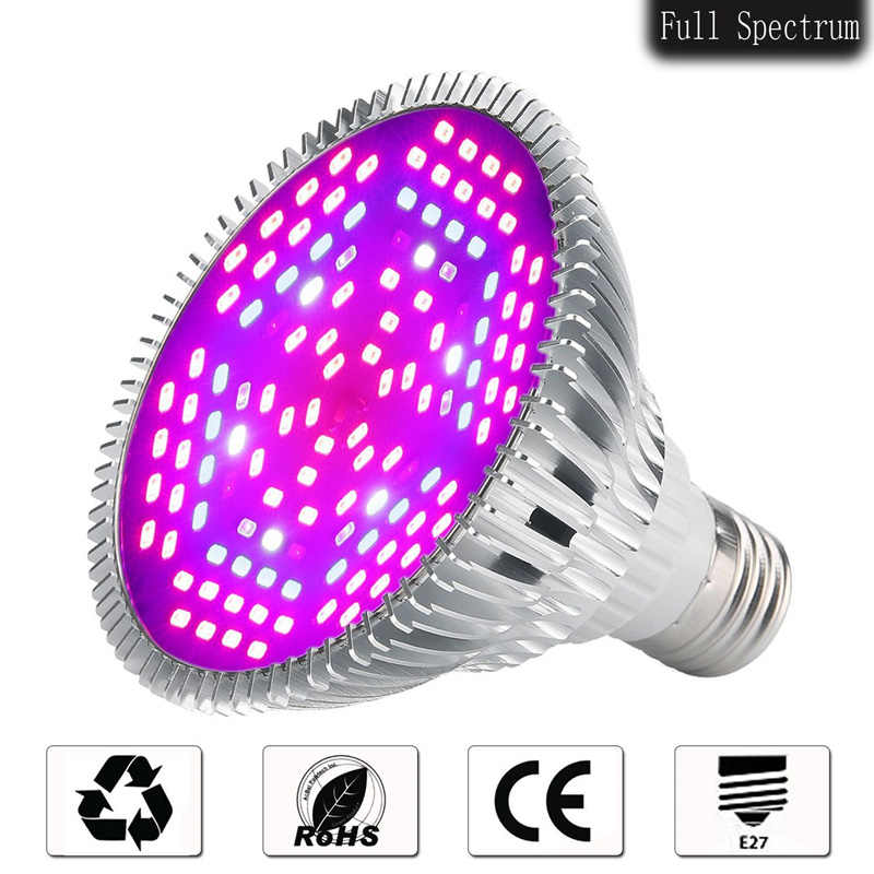 Full Spectrum 18W 28W 40W 80W 120W LED Grow Lights E27 Horticulture Garden Flowering Hydroponics Vegetables Plant Lamps
