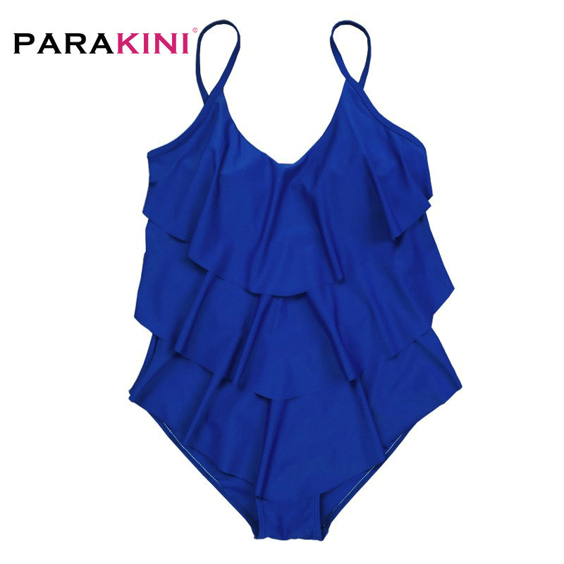 5f31980747 PARAKINI One Piece Swimsuit Mature Women Cover Belly Swimwear Slimming  Vintage Retro Bodysuit Bathing Monokini Plus Size 3XL-in Body Suits from  Sports ...