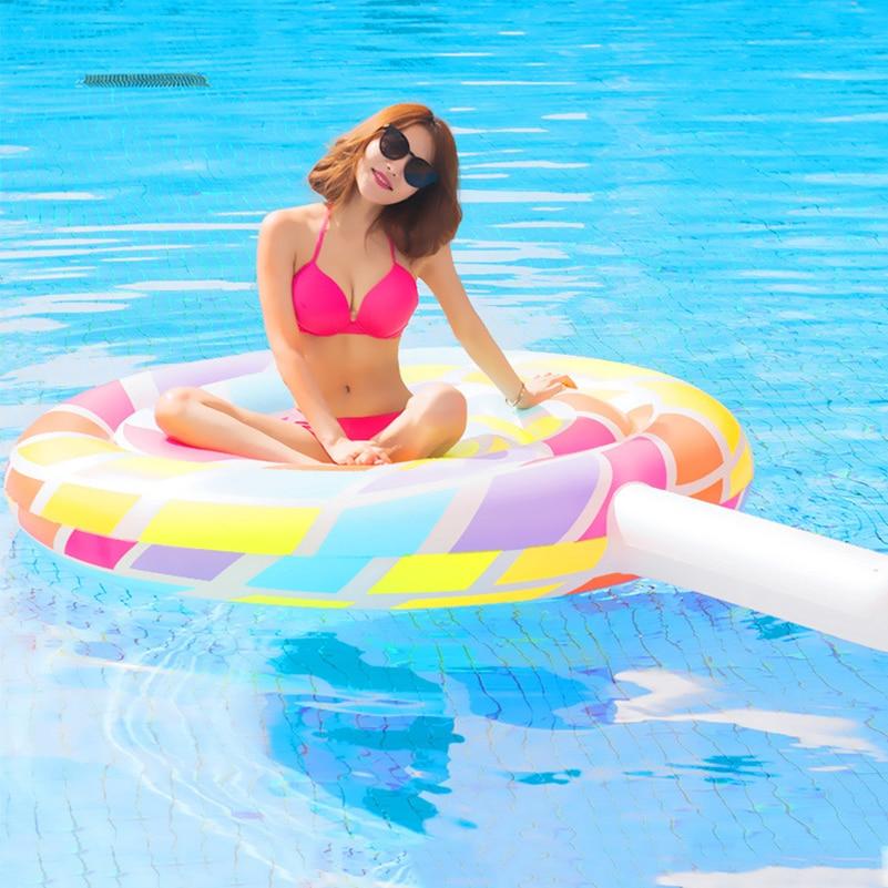 YUYU 2018 NOUVEAU 220 cm Géant Lollipo Flottant Piscine Gonflable Anneau De Bain Adulte piscine Gonflable Anneau De Natation piscine jouets