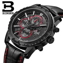 Switzerland watches men luxury brand clock BINGER quartz men's watch multifunctional military Stop Watch glowwatch B6011-5