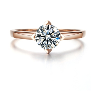 Round Brilliant Cut 5ct Lab Grown Diamond Solitaire Ring 14k Rose Gold Engagement Ring Moissanites Wedding Rings Size 4-10 1