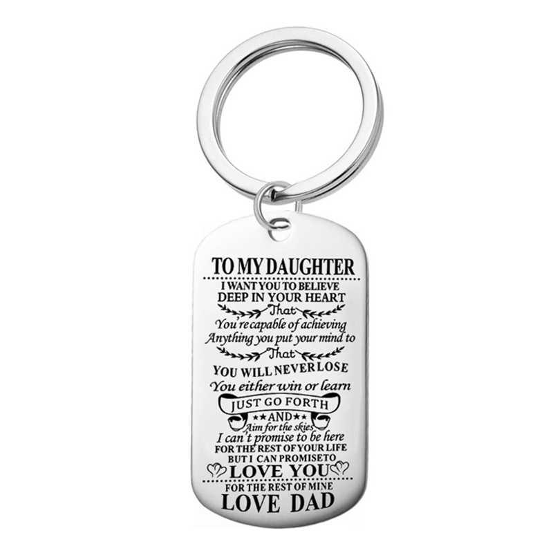 Bijoux de famille à mon fils fille I Want You To Believe Love papa maman chien Tag militaire collier anniversaire cadeau de remise des diplômes pour les enfants