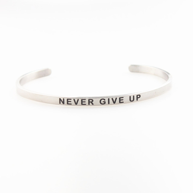 NEVER GIVE UP Stainless...