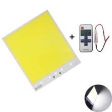 210x180mm White 600 leds 12V 400W dimmable cob led with 11 keys wireless remote controller dimmer chip strip light bulb