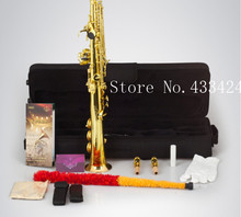 Original Henlucky WSS-5042QJ Soprano Saxophone Bb Musical Instrument Saxe gold plated Process Sax Professional saxofone