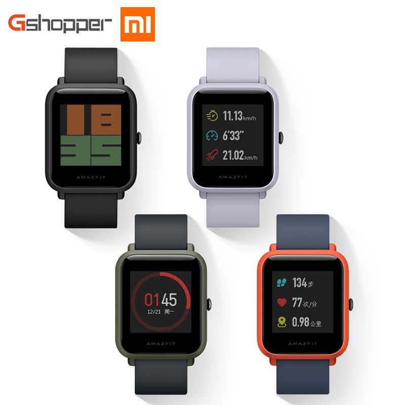 Оригинальные Смарт-часы AMAZFIT Bip Youth Edition, gps, ГЛОНАСС, Bluetooth, 4,0, монитор сердечного ритма, IP68, водонепроницаемые, Android 4,4, IOS 8