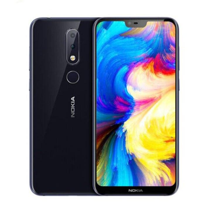 Nokia X6 téléphone intelligent 4G RAM 32G ROM3060mAh 16.0MP 3 caméra double Sim Android LTE empreinte digitale 5.8 pouces Octa Core Android one