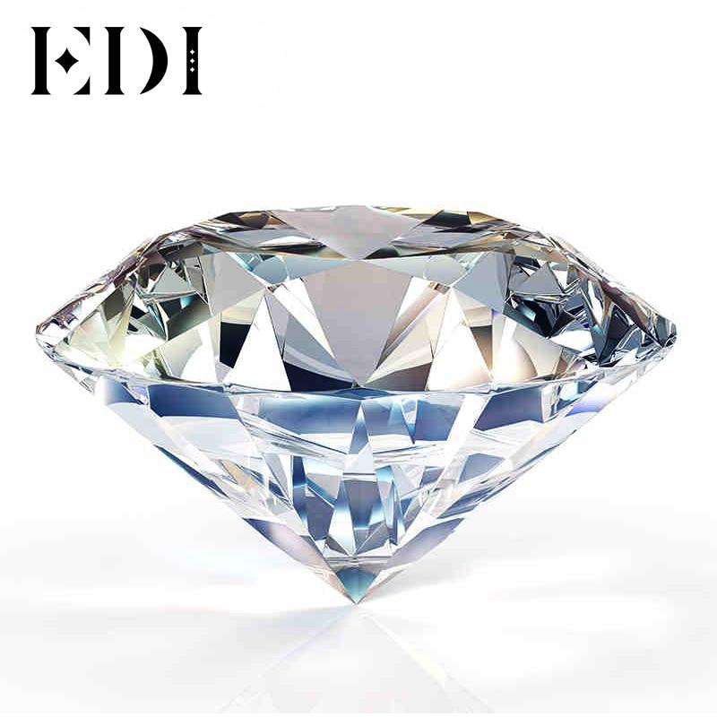EDI DEF Couleur Grade Lâche Moissanites 1.5 Carat 7.5mm Brillant Rond Moissanites Diamant Bijoux Test Positif Que Le Diamant Ne
