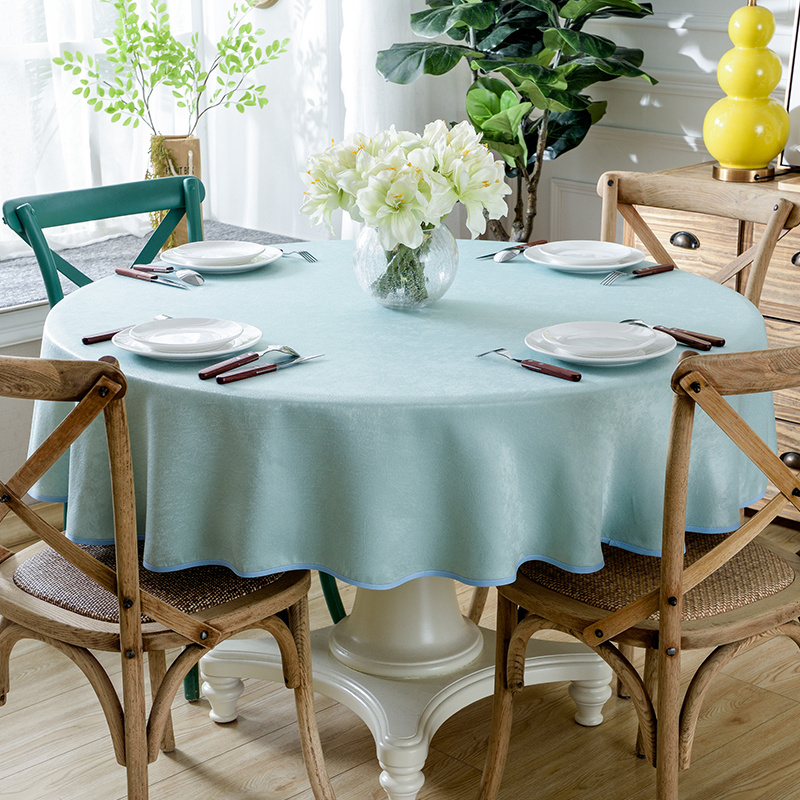 Round Table With Tablecloth.Us 22 1 47 Off Europe Table Cloth Solid Color Round Table Cloth Tablecloth Dinner Table Cover For Wedding Home Banquet Decoration Dinner Table In