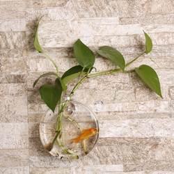 Прозрачный подсолнечное в форме настенные подвесная ваза Дисплей держатель гидропонный контейнер завод цветок Стекло бутылка Декор для