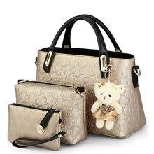 2016 fashion women 3 sets composite bags ladies bags mulheres designer handbags women s shoulder Messenger