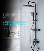 Bathroom shower set Luxury black mixer with shower black shower set bathtub faucet Sets bathroom Shower faucet free shipping