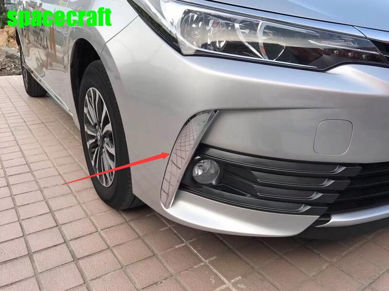 Front fog light trim car styling moulding for toyota corolla 2017 2018,ABS chrome,car styling