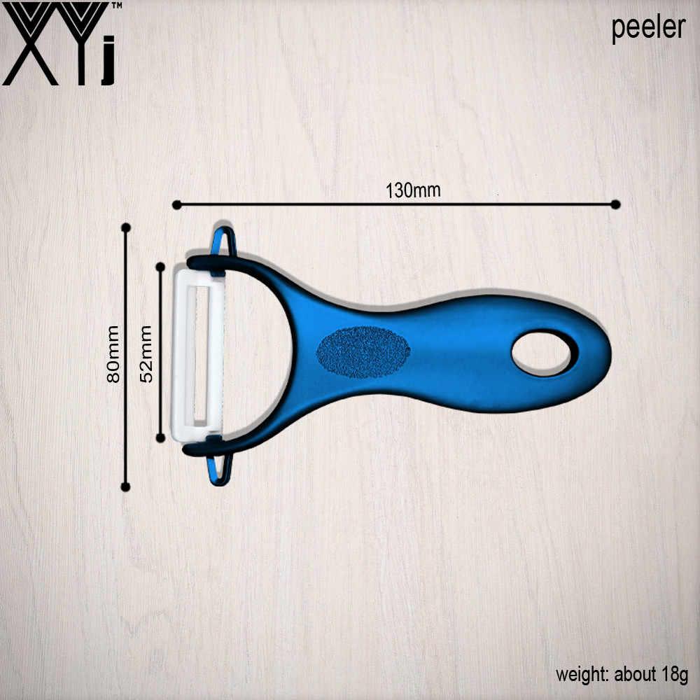 Синие кухонные ножи с полой ручкой 3, 4, 5 дюймов + Овощечистка высококачественная керамическая нож 4 шт. набор горячей продажи XYJ брендовые кухонные инструменты