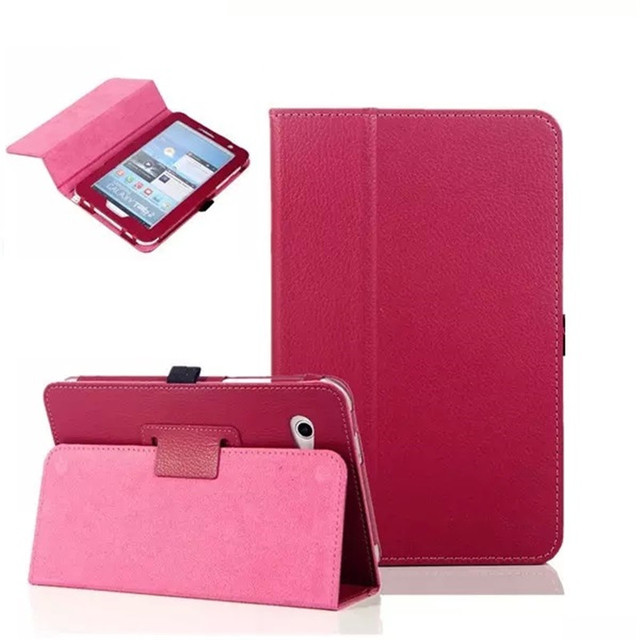 PU Leather Tablet Case Cover For Samsung Galaxy Tab 2 P3100 P3110 P3108 GT-P3100 Luxury Samrt Folding Protective Shell 7 inch