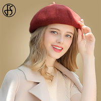 FS Wool Women Berets Winter Solid Color French Beret Elegant Warm Female British Style Lady Painter Bonnet Hats Autumn Fall