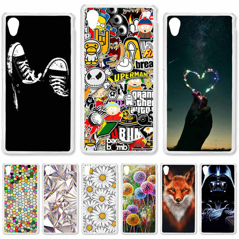 TAOYUNXI Soft TPU Case For Sony Xperia M4 Aqua Cases For Sony M4Aqua E2303 E2353 E2306 Dual E2333 E2363 E2312 DIY Painted Covers