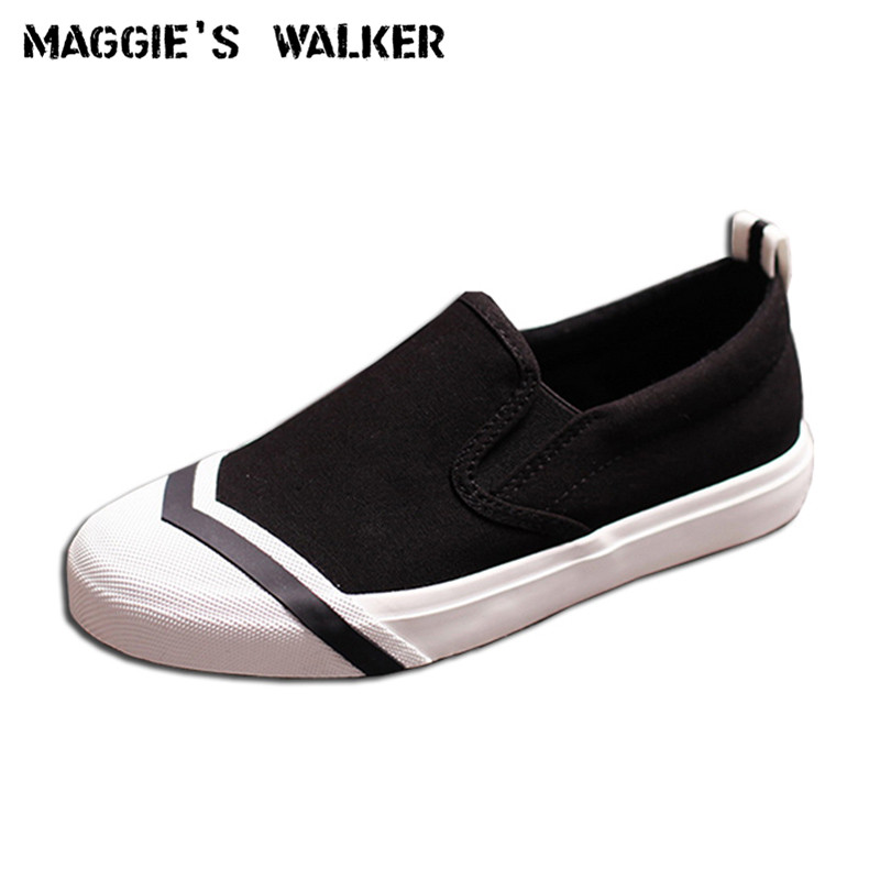 Maggie's Walker Women Canvas Casual Shoes Hot-selling Loafer Slip-on Shoes Casual Flats Size 35~40 free shipping new arrival 2017 women trendy candy colored slip on canvas shoes platform canvas casual loafers size 35 40