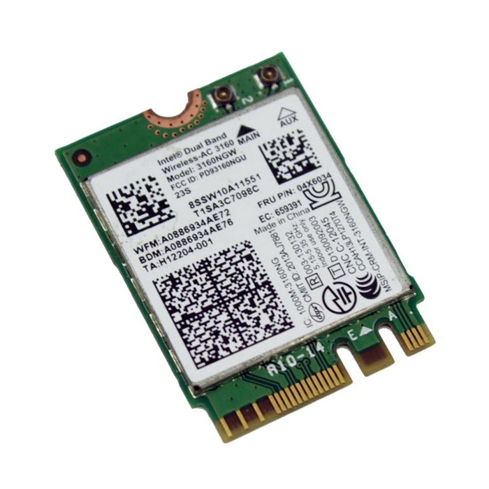 Intel 802.11AC AC3160 3160NGW NGFF PCI e M.2 2.4G 5G 433M Hotspot WIFI Wireless & Bluetooth 4.0 Card for Laptop,Free Shipping telit ln930 dw5810e m 2 twh3n ngff 4g lte dc hspa wwan wireless network card for venue 11