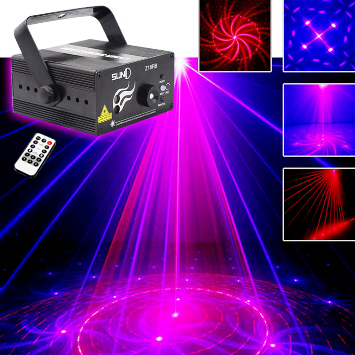 SUNY 18 RB Patterns Laser Light Blue LED Stage Light Sound Activated Gobo Projector Show for Club Bar DJ Disco Home Party(Z18RB)SUNY 18 RB Patterns Laser Light Blue LED Stage Light Sound Activated Gobo Projector Show for Club Bar DJ Disco Home Party(Z18RB)