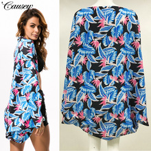 2019 the latest seaside shawl beach hood cardigan printed cotton blouse