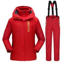 30 градусов Зимний горный лыжный костюм для женщин непромокаемые ветрозащитные сноубордические куртки + брюки женский открытый теплый комп