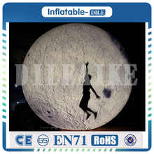 Giant advertising inflatable moon with LED light factory price inflatable planet inflatable moon for advertising outside decor стоимость