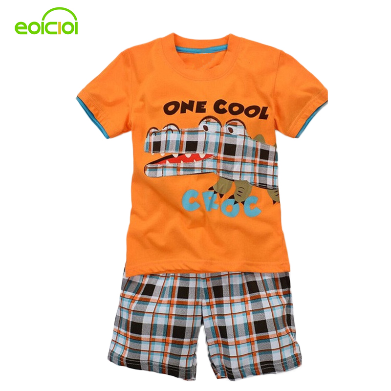 Children clothing suits for boys set children's sports suits Summer short sleeves T-shirt+shorts Set for kids clothes for retail