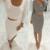 2017 primavera invierno 2 unids mujeres conjuntos de manga larga lápiz bodycon midi vestidos oficina ropa casual elegante delgado del vendaje vestidos