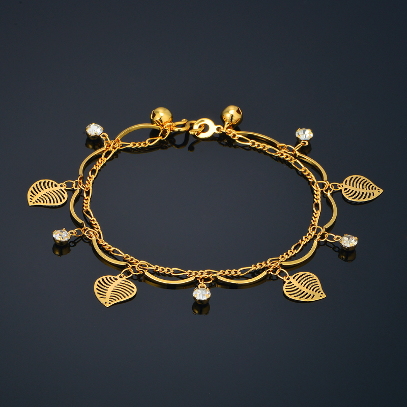 Valentines Day Gifts For Women Jewelry Vintage Gold Bracelet Love Leaf Color 19cm Bracelets In Charm From Accessories