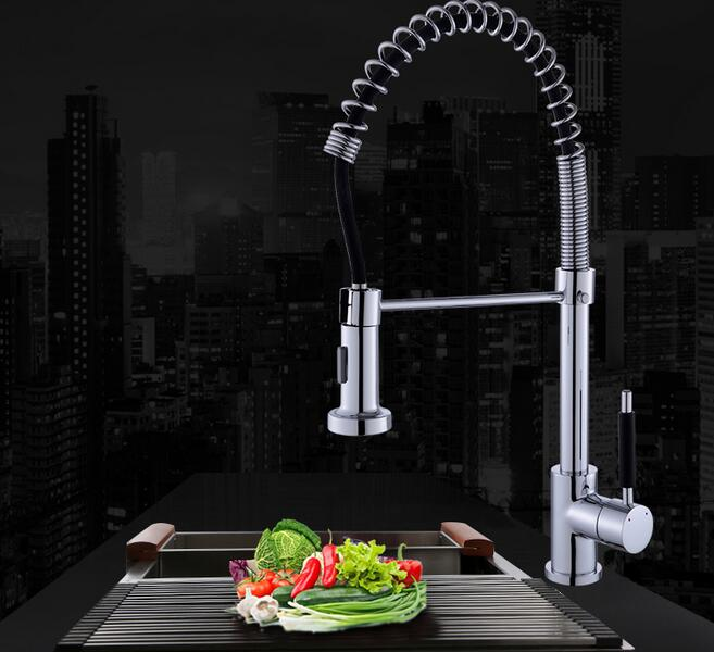 Kitchen Faucet Torneira Pull-out spring kitchen faucet Rotate Swivel 2-Function Water Outlet Mixer Sink Taps pure water showerKitchen Faucet Torneira Pull-out spring kitchen faucet Rotate Swivel 2-Function Water Outlet Mixer Sink Taps pure water shower