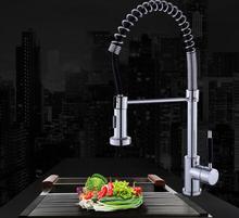 Кухонный Кран Torneira Pull-out весна кухонный кран Повернуть Swivel 2-функция Выход Воды Смеситель Для Раковины Краны чистая вода душ