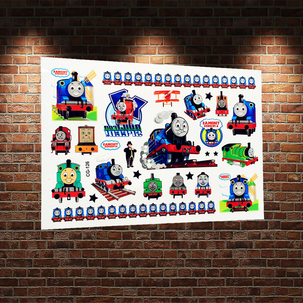 compare prices on train tattoos online shopping buy low price tv train thomas and his friends temporary tattoo paste kids gifts acg 126 body art