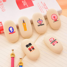 3 pcs Novelty Cute Pebble Shape Eraser Rubber Eraser Primary School Student Prizes Promotional Gift Stationery
