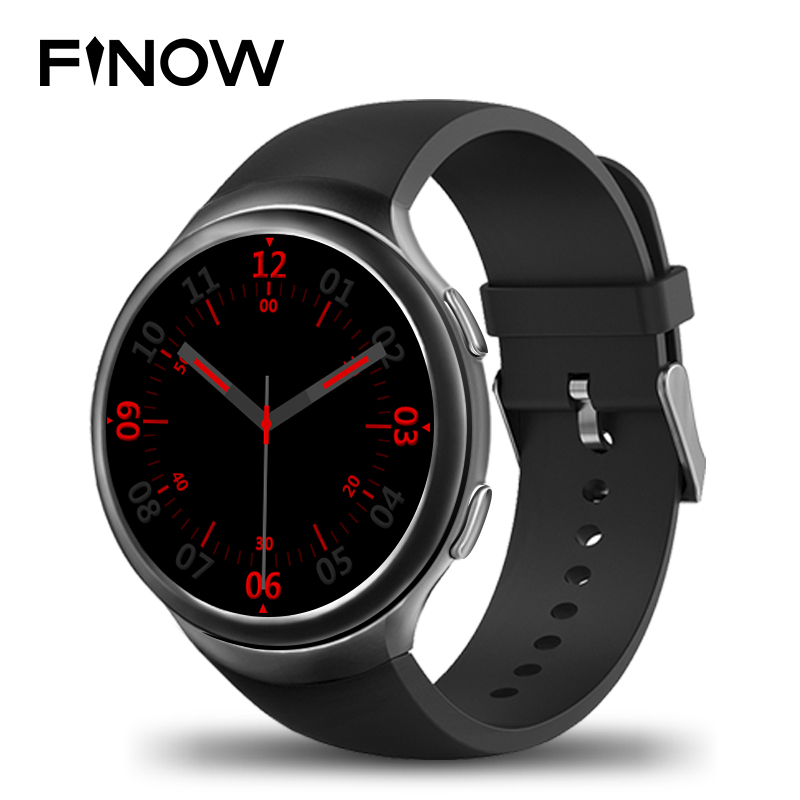 Finow X3 Plus Smart Wacht K9  Wearable Devices Smart Watch Men Android 5.1 MTK6580 1GB+8GB Quad Core Smartwatch  iOS Android finow x3 plus k9 bluetooth smart watch android 5 1 mtk6580 quad core 1gb 8gb heart rate monitor clock for ios android pk no 1 d5
