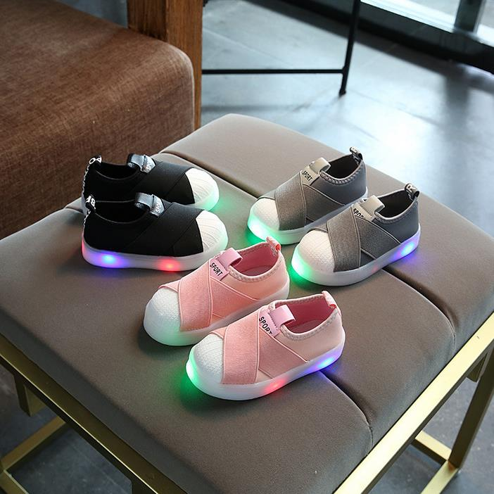 HaoChengJiaDe-Kids-Shoes-With-Light-Boys-Shoes-2017-Children-Canvas-Sport-Led-Girls-Princess-Shoes-Baby-Boys-Sneakers-Size-26-30-3