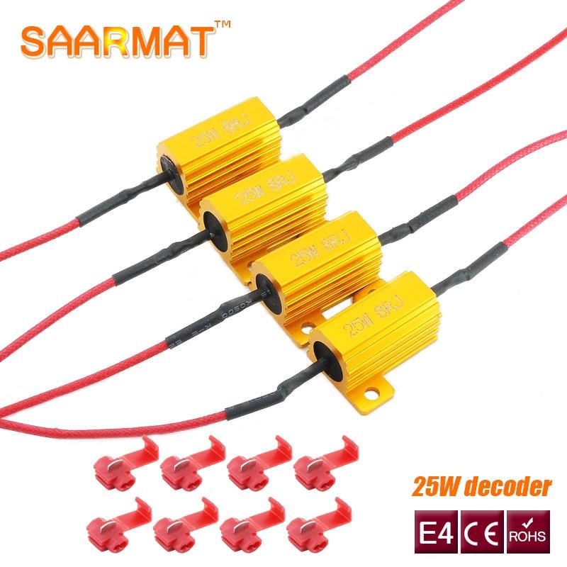 4X25 Вт светодиодный Реверсивный тормозной сигнал поворота резистор нагрузки быстрой вспышки 7443 WY21W W21W 7440 P21/5W 1157 P21W 1156 PY21W