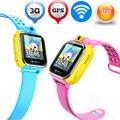Crianças Garoto Esperto SOS Relógio GPS Wi-fi Segura Localização Rastreador ZW29 suporte 3G Chamada Telefônica Do Cartão SIM Para a Criança Do Bebê Anti-perdido Do Monitor