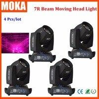 4 шт./лот оптовая продажа Disco Освещение 7R перемещение головы луч 230 С 16ch свет контроллер dmx
