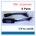 5Pairs (10 Pcs)Poe Splitter Injector Adapter Cable Rj45 Poe Injector Kit Power Supply 24V For Security Camera Cctv Accessories