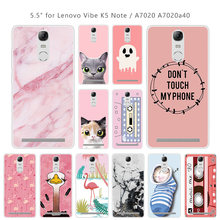 Case for Lenovo K5 Note Luxury Protective Pink Back Cover for Lenovo Vibe K5 Note A7020 a7020 5.5 inch Capa Funda Couqe(China)